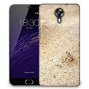 Snoogg Beach Sand Crab Designer Protective Phone Back Case Cover For Meizu M2