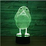 Huhn Modell Illusion 3D Lampe Led 7 Farbwechsel Tier Visuelle Nachtlichter Für Kinder Schreibtisch Tischlampe Geburtstagsgeschenk