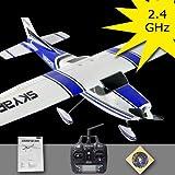 Cessna 182 skylane 3G3X R/C avion zinc (téléguidé) brushless LiPo (bleu) FZ8