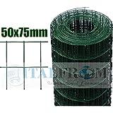 25m Rollo de Loose Malla plastificado galvanizado alambre de malla–Malla 75x 50mm–Diámetro: 2,2mm–altura de malla: 100cm