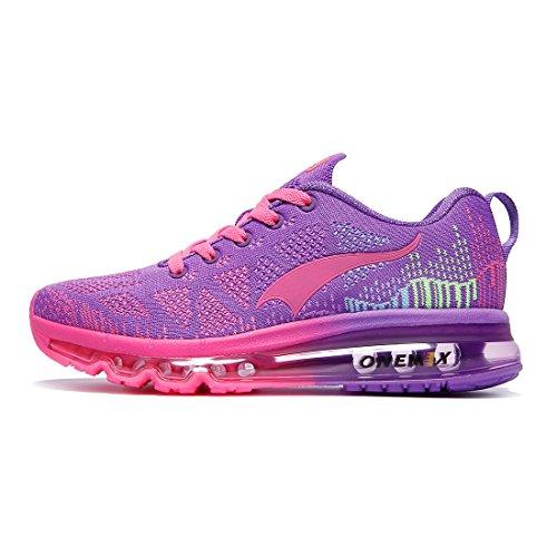 Onemix Leicht Damen Laufschuhe Gute Qualität Sneaker Air Max Women's Running Shoes Lila 1118W ZTH 36 (Nike Schuhe, Lila Frauen)