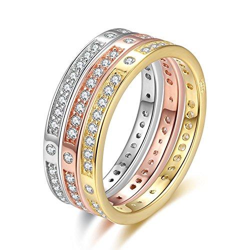 Anello per Donne, Anelli in argento sterling S925 per le donne, anelli di moda ipoallergenici ( Size