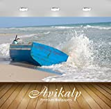 Best Beach Boats - Avikalp Exclusive Awi7389 Waves Splashing On A Blue Review