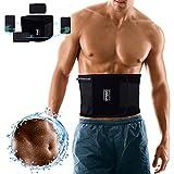 Fitness-Gürtel Damen & Herren, Bauchweggürtel und Schwitzgürtel mit abnehmbarer Handy Hüfttasche, Waist Trainer kaschiert Bauch & Taille, Gewichthebergürtel Rückenbandage zur Rücken Stabilisierung
