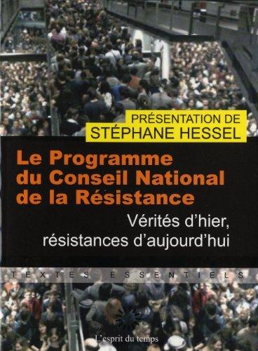 PROGRAMME CONSEIL NATIONAL DE LA RESISTANCE (LE)