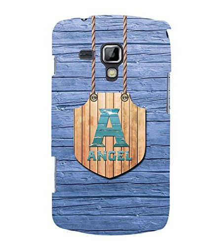 YuBingo Designer Printed Plastic Mobile Back Case Cover Panel for Samsung Galaxy S Duos 2 S7582 ( Name Surname Angel (Wood Finish Printed on Plastic) )  available at amazon for Rs.479
