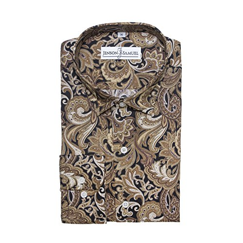 Jenson Samuel Shirts-Chemise-vêtements homme Brown Black paisley
