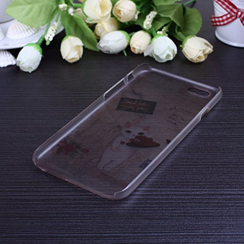 Bunte nette Karikatur-Blumen-Schmetterlings-Herz-Entwurf bereifte Mattplastik Hard Case für IPhone 6S 6 ( Color : 7 , Size : IPhone 6S 6 ) 6