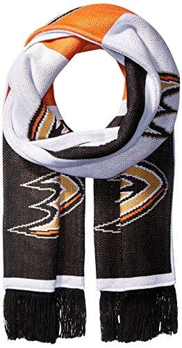 NHL SP17Wiederholen Logo Jacquard Schal, schwarz, Einheitsgröße