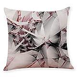 UFACE 2019 Dekorativ Kissenbezug Geometrische Muster 45 x 45cm Sofa Büro Dekor Kissenhülle aus Baumwoll und Leinen, Schwarz und Beige