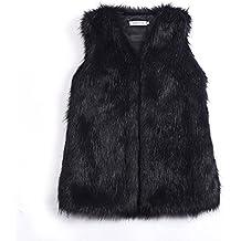 Per Manteau sans Manche Fausse Fourrure Gilet Femme Hiver Veste Fourrure Femme  sans Manche Faux Fur 54aca5a47090