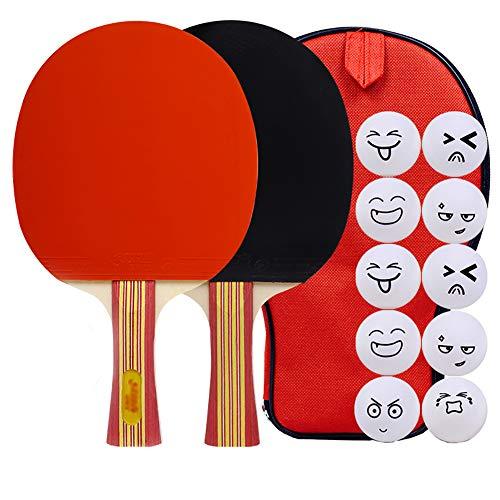 YXDDG Ping Pong Schläger Tischtennisschläger für den Verein oder privat für Familie und Freunde