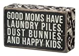 Primitives By Kathy Box Sign, 5 by 3-Inch, Good Moms by Primitives By Kathy