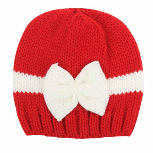 LuckyGirls Winter Baby Mädchen Jungen Stricken Wolle Mützen Weichen Hüte (rot)