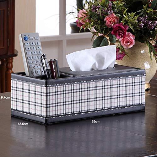 Genven Slim Desk Organizer Tissue BoxRemote Controller Halter Aufbewahrungsbehälter Rack-F Tissue Holder Box Cover für Home Office Hotel (Farbe : F) (Slim-tissue-box)