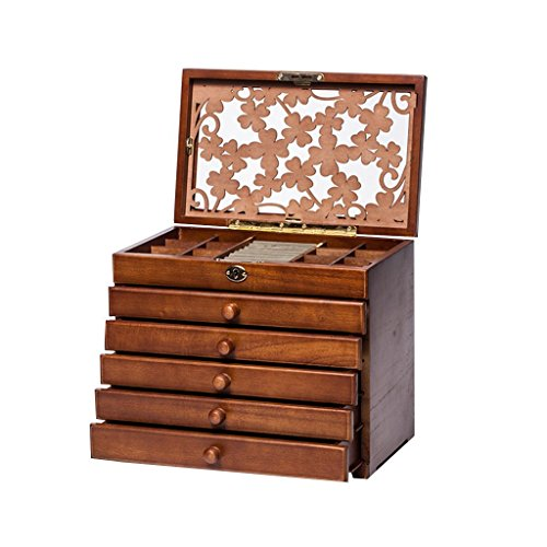 legoyo-7198b-clover-carved-6-layer-wooden-real-wood-jewelry-box-and-lock-archaize