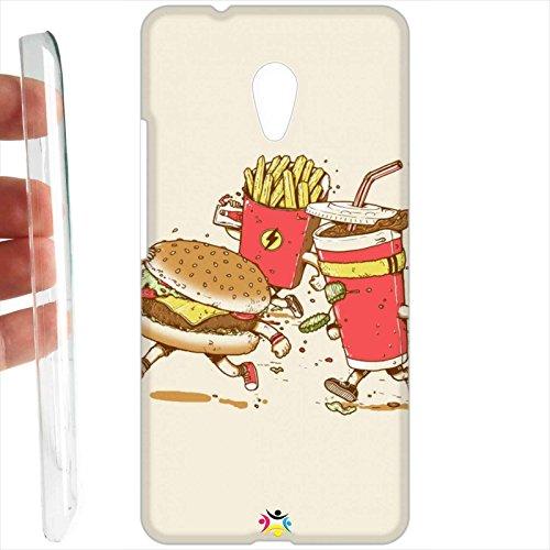 Tuttoinunclick Custodia Cover Rigida per Meizu M5s - 621 Hamburger