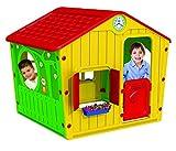 Kinder Spielhaus Galilee Village Kunststoff Marke Starplast Farbkombination GELB, ROT, GRÜN Mega gross