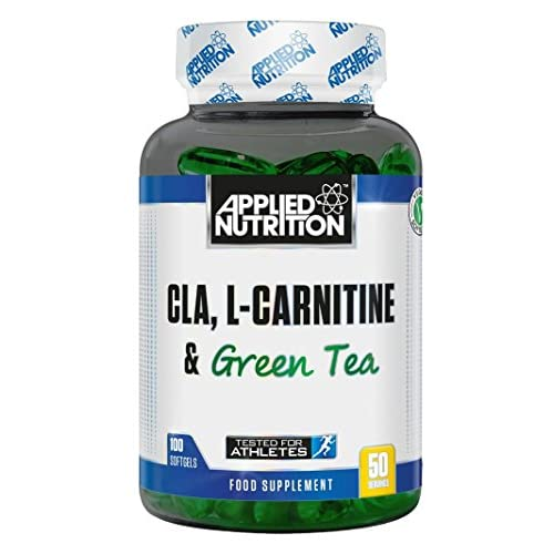51WxGe%2BFTbL. SS500  - Applied Nutrition CLA L Carnitine & Green Tea Natural Energy Fat Burning Blend Help Weight Management (Conjugated…