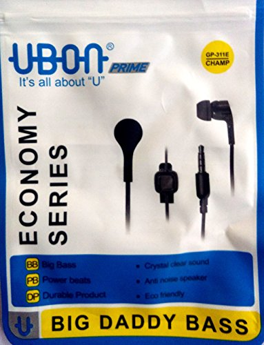 Ubon GP-311E Wired Earphones (Black)
