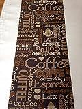Tappeto cucina marrone e beige 67 x 300 3 metri caffe coffe cappuccino chabby shic antiscivolo lavabile in lavatrice