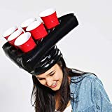 Hat Pong Quality Premium - Original Beer Pong Game - 2 Hats Bojen - 12 Amerikanische Cups Rote / Blaue - 2 Ping Pong Balls - Party Game - Trinkspiel