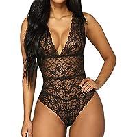 Femme Body Dos Nu Lingerie Sexy Nuisette Babydoll Dentelle sous-vêtements De Nuit Transparent