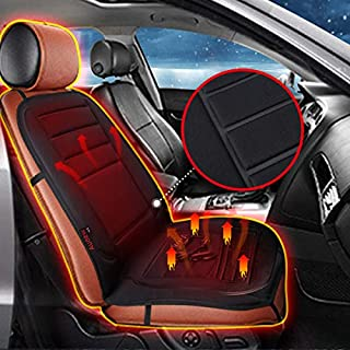 Audew Audew7iEpxcaiA 12V Car Front Seat Hot Heater Heated Pad Cushion, Black