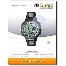 2 x disGuard Anti-Reflective Lámina de protección para Suunto Vector Black - ¡Protección de pantalla antirreflectante con recubrimiento duro! CALIDAD PREMIUM - Made in Germany