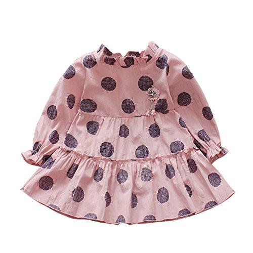 ESHOO Baby Kleid, Kleinkind Mädchen Polka Dot Gedruckt Langarm Mädchen Prinzessin Tutu Rock