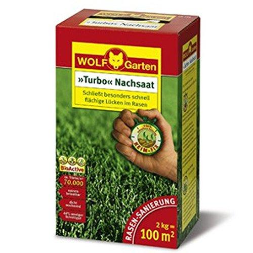 Wolf LR 100 TURBO-NACHSAAT Rasensaat | 2kg für 100qm