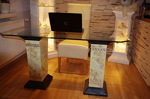 Schreibtisch Computertisch Bürotisch Nageltisch Manikürtisch Glasplatte 140cmx80cm