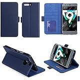 Huawei Honor 9 4G : Housse Portefeuille luxe bleue Cuir Style avec stand - Etui coque bleu de protection Honor9 avec porte cartes - Accessoires pochette XEPTIO : Exceptional case !