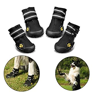 Royalcare Protective Dog Boots, Set of 4 Waterproof Dog Shoes with Wear-resistant and Rugged Anti-Slip Sole Suitable for… 24