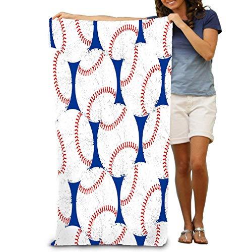 Distressed-design Baseball (Ewtretr Strandtücher Bath Towel Soft Beach Towel 31