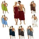 Aqua-Textil Wellness 0010395 Herren Saunakilt 70 x 160, grau, Frottee Baumwolle Saunasarong kurzer Schnitt Sauna Kilt