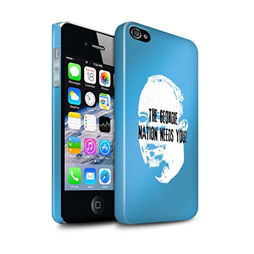 Offiziell Newcastle United FC Hülle / Glanz Snap-On Case für Apple iPhone 4/4S / Pack 8pcs Muster / NUFC Rafa Benítez Kollektion Geordie Nation