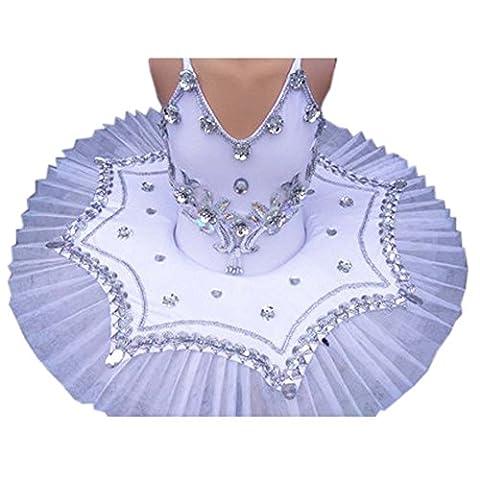 Hübscher Tanzkleid Kinder Ballett Rock Tutu Prinzessin Kleid Kostüme Dancewear, A (Hübscher Tanz Kostüme Für Mädchen)