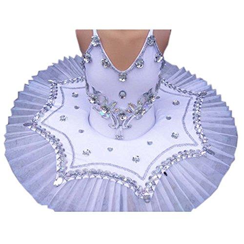 Hübscher Tanzkleid Kinder Ballett Rock Tutu Prinzessin Kleid Kostüme Dancewear, A