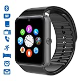 CHEREEKI Bluetooth Smart Watch Handy-Uhr Mit Kamera SIM / TF Card Slot Pedometer Touch Screen Smartwatch Armbanduhr Watch Phone für Android Smartphones