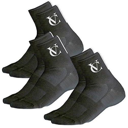 Confezione da 3 Cycling Socks VeloChampion Calze da Ciclismo Speed Line Coolmax - Nero o Bianco