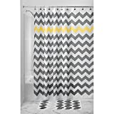 InterDesign Shower Curtain, 54 by 78-Inch, Gray/Yellow Chevron - Best Reviews Guide