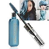 Moresave Unisex Einmalige Haarfarbe Mascara DIY Wasserdicht Temporäre Modellierung Haar Wachs mit Pinsel, 10ml