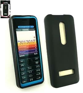 Emartbuy ® Nokia 301 Frosted Muster Gel Skin Cover Schwarz