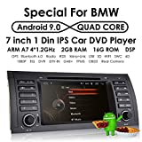 Android 9.0 7 Zoll Autoradio DVD-Player für BMW 5er E39 / BMW X5 E53 / BMW M5 / BMW 7er E38 Unterstützung Radio RDS Mirrorlink Lenkrad Bluetooth Tupfen Tpms Rückfahrkamera Subwoofer