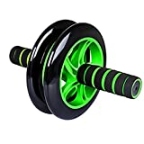 #5: Aurion Black/Blue Total Body Ab Exerciser Double Wheel Unisex Ab Abdominal Roller with fee mat
