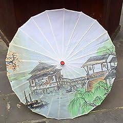 Idea Regalo - AJIAO Ombrello Ombrello di Seta Femminile Ombrello di Seta di ciliegio in Fiore Ombrello di Carta Ombrello,Smeraldo
