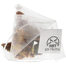 Botánicos para Gin Tonic, formato pirámide 24 uds para gintonic. Fácil y practico uso, dos sabores Gin Frutal y Gin Silvestre. Aromatizante natural para la ginebra y licores Blancos