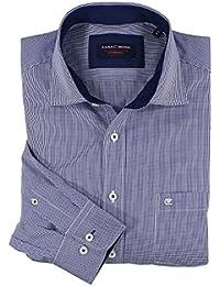 Dunkelblau-kariertes Hemd (langarm) von Casa Moda in großen Größen bis 7XL
