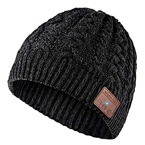 Cappello Bluetooth Bluetooth Beanie 5.0 , Cuffie a Cuffia wireless con Altoparlanti Stereo HD e MIC Incorporato, Lavabile Running Hat per Uomo Regali, Elettronici Regali di Natale per uomo/donna 8 spesavip